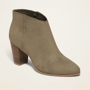 Old Navy | Olive Green Ankle Booties | Size 10